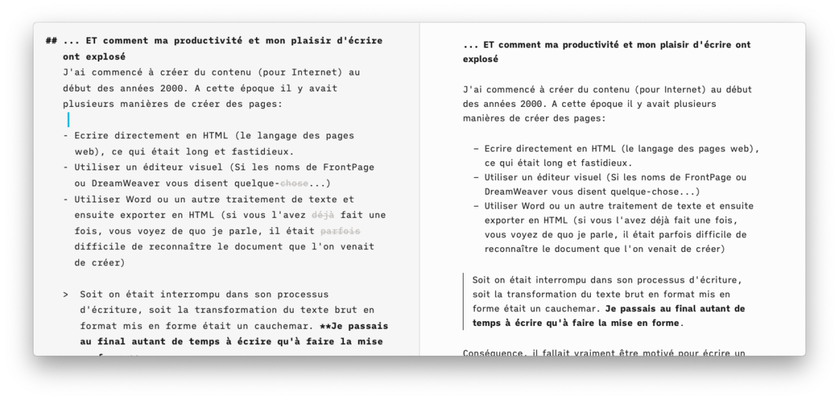 Cet article en Markdown sous iA Writer